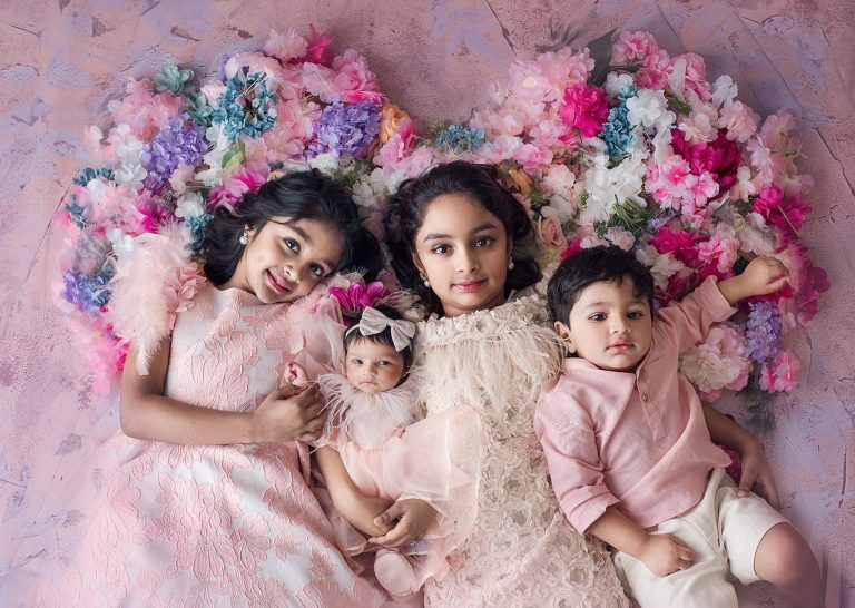 Hyderabad Celebrity Newborn Photographer Manchu Vishnu kids Photos
